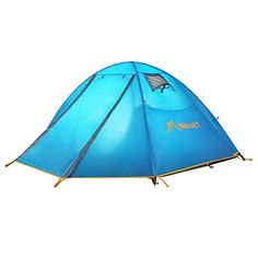 Himaget Outdoor 2 Person Camping TentBackpacking Tents with Carrying Bag Two Windows and with Aluminum Pole Frame Blue1011 -- Visit the image link more details. (This is an affiliate link) #BackpackingTents