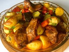 Karkówka z warzywami pieczona w rękawie - Blog z apetytem Restaurant, Kung Pao Chicken, Pot Roast, I Foods, Zucchini, Pork, Food And Drink, Menu, Lunch