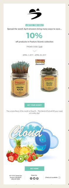LIMITED TIME ONLY  Spread the word! April showers bring many ways to save...  10%