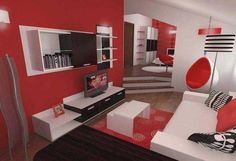 Colour scheme - Red, Black & White