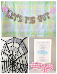Decor Details from a Charlotte's Web Inspired Birthday Party via Kara's Party Ideas | KarasPartyIdeas.com - The Place for All Things Party! (14)