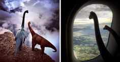 Travel Photos Are Way Better With Dinosaurs - 9GAG That settles it. Plastic dinosaurs are on the packing list.