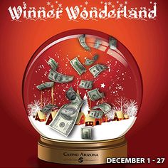 Spin the wheel and win cash prizes ranging from $500 to $5,000! It's the most wonderful promotion of the year.