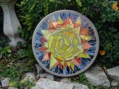 Mosaic stepping stone by SunnyDayStudio