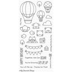 My Favorite Things UP IN THE AIR Clear Stamps BB44