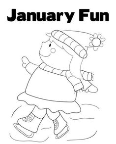 January Coloring Pages Winter Theme Activities for Kids