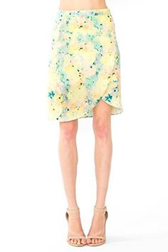 The Sugarlips Rainbow Sherbert Skirt is a multicolor water color printed cross over skirt. Zipper closure. Price : $55.00 #MyLuluCloset #Sugarlips #Skirts