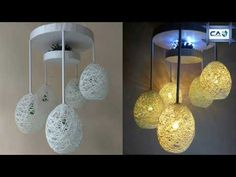 Make a Home Made Wrapped Balloon Lamp| Easy Home Made Lamp by Crazy Art 4 U - YouTube