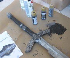 Forge a papier maché sword