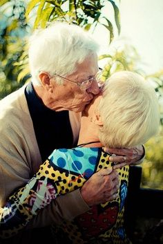 Mature love... includes lots of hugging and kissing,  of course!