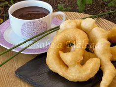 Banana Colada, Pasta Casera, Onion Rings, Chocolate Fondue, Doughnut, Cantaloupe, Fruit, Ethnic Recipes, Desserts