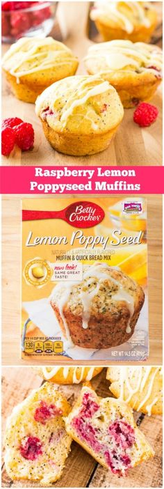 Easy Raspberry Lemon Poppyseed Muffins | Deliciously Sprinkled