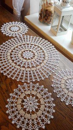 Crochet Doily Patterns, Crochet Motif, Crochet Designs, Crochet Doilies, Crochet Flowers, Hand Crochet, Diy Crafts Crochet, Crochet Art, Crochet Home