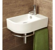 Buy this stylish HIB Malo Temoli Cloakroom Basin With Towel Rail at discounted rate. Manufacturing Code of this Cloakroom Basin is
