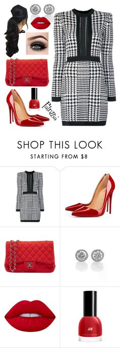 Patrizzia05.01.2018a by patrizzia on Polyvore featuring moda, Balmain, Christian Louboutin, Chanel, Lime Crime, ASAP and patrizziapolyvore