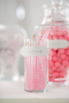 Pink Candy Buffet ~ Pretty idea for parties! {Photo by wiltonphotography.com}
