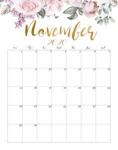 Cute November 2020 Calendar Printable November Calendar 2019, November Printable Calendar, Monthly Calendar Template, Free Printable Calendar, December, Monthly Calendars, Calendar Journal, Print Calendar, Calendar Design