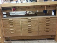 Workbench drawers finally done!