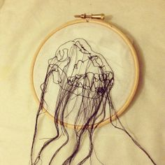 Animal Skull Machine Embroidery by ThatsSewKay on Etsy, £10.00