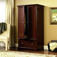 Armoire Wardrobe Cherry Bedroom Furniture Storage Dresser Closet Drawers for sale online Wardrobe Storage Cabinet, Innovative Furniture, Wardrobe Armoire, Closet Cabinets, Cherry Bedroom, Wardrobe Dresser, Bedroom Furniture, Wood Armoire, Closet Drawers