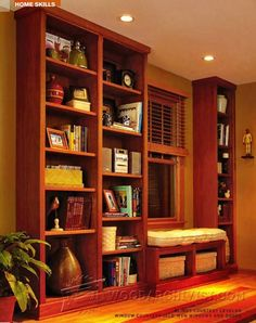 3684-Built-in Bookcase Plans