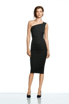 Banana Republic's New Collab Is AMAZE #refinery29  http://www.refinery29.com/roland-mouret-banana-republic-collaboration#slide11   Roland Mouret for Banana Republic Sloan One-Shoulder Dress, $140, available on August 7.