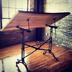 Love!! Definitely want to DIY a drafting table like this. http://farmhausmodern.com/