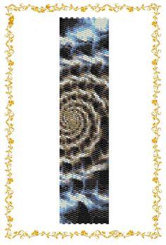 2drop Peyote beading Pattern Bracelet Cycle.  Instant by HoneyPear