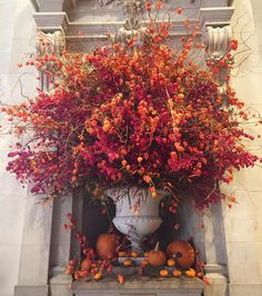 Autumnal flowers currently on display in the Great Hall. #metmuseum