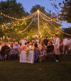 Amazing party tips for a dreamy, stylish party: Fairy lights garden party tent
