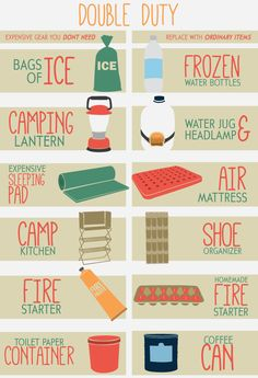 Great camping 'hacks' infographics and content to help ensure your next camping trip is a relaxing, stress-free experience.