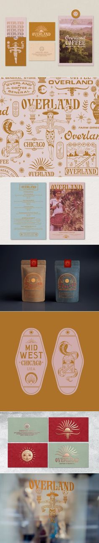 Overland – Fivestar Branding Agency : Overland coffee & general store brand identity design by Zachary Kiernan Font Design, Brand Identity Design, Graphic Design Branding, Corporate Design, Design Agency, Typography Design, Corporate Branding, Fashion Typography, Brochure Design