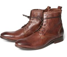 These textured leather casual men's boots are one of the favourites here at Hudson HQ. This season we have used our latest finishing process, drum dying, to give a rich colour to the leather. The upper is detailed with exposed stitching around the heel and topline, whilst the laces are long enough to wrap around the top. Keep tight laced or open and relaxed, either way Swathmore will make you look good!