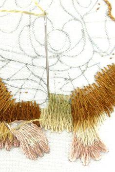 Hamster Work in Progress Fotos: Pintura Agulha bordados à mão, um projeto do bordado à mão, como uma alternativa para ponto de cruz.