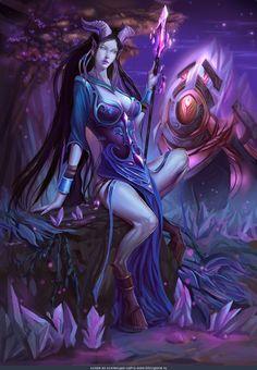 World of Warcraft: Battle for Azeroth World Of Warcraft, Warcraft Art, Warcraft Legion, Draenei Female, Wow Draenei, Fantasy Races, Fantasy Girl, Dark Fantasy, Fantasy Character Design