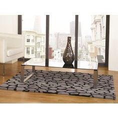 Pebble Print Grey Modern Rug