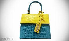 Jackie baby handbag lizard skin