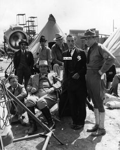 Buster on the set of Doughboys with Ed Sedgwick and Ed Brophy