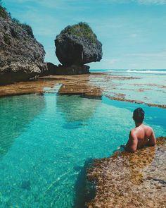 Magpupungko Tidal Flats & Pools, Siargao 😎 Beautiful Islands, Beautiful Beaches, Siargao Philippines, Siargao Island, Mindanao, Building A Pool, Beach Poses, Vacation Resorts, Travel Memories