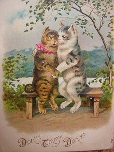 Vintage cats postcard by pollyanna.uk, via Flickr