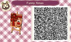 Funny Xmas Gift - QR - Animal Crossing New Leaf - ACNL - Broesel