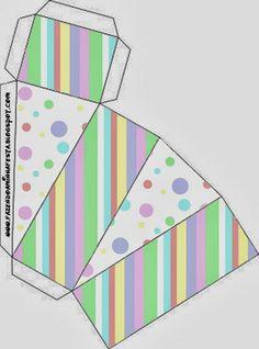 Pastel Polka Dots: Free Printable Boxes.