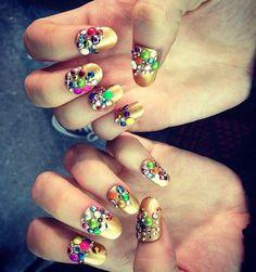 Custom nail looks. Butter London, created at Libertine fall '13