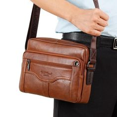 d32e96b4ad Fair price Hot selling men business messenger bags made by genuine leather  high quality male briefcase