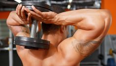Dumbbell two arm overhead extensions hareketi