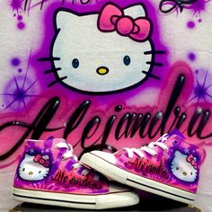 Hello Kitty Set Shirt And Shoes Fell Free To Share This Somebody Is Having A Very Happy Birthday Order Call 323 456 5243 Airbrush Nation