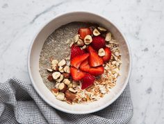 This super simple chia pudding recipe can be dressed up with whatever you want: