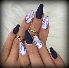 Matte purple nails #marblenails #mattenails