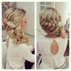 Wedding Hairstyles - Side plaid & hairpiece