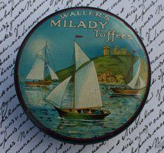 Waller's 'Milady' Toffees circular tin                              …